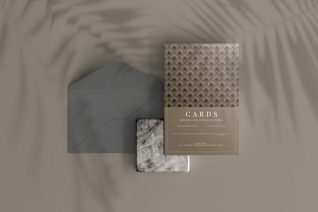 Cartão postal ou modelo de cartão de convite