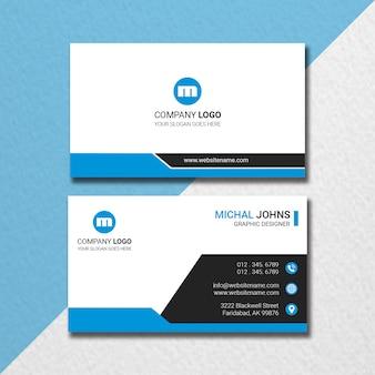 Cartão preto & azul mínimo