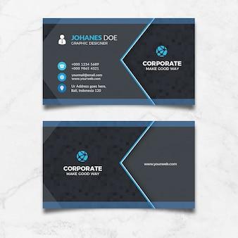 Cartão preto corporativo