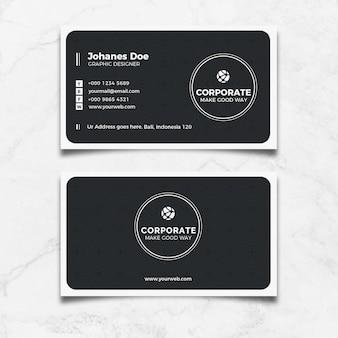 Cartão preto criativo