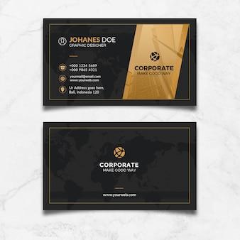 Cartão preto do ouro