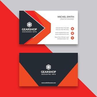 Cartão preto & laranja