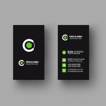 Cartão vertical minimalista