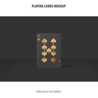 Cartas de jogar com maquete de folha de ouro