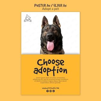 Cartaz com adoção de animais
