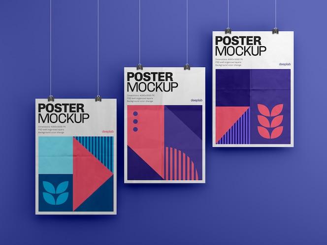 Cartaz com maquete premium de fundo editável