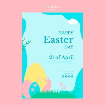 Cartaz com o dia de páscoa temático