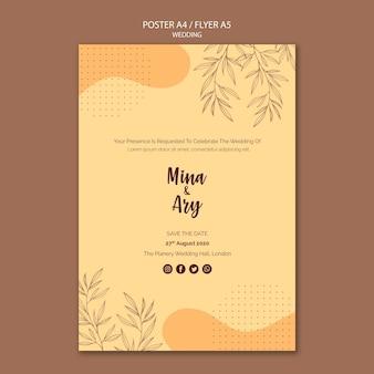 Cartaz com tema de casamento