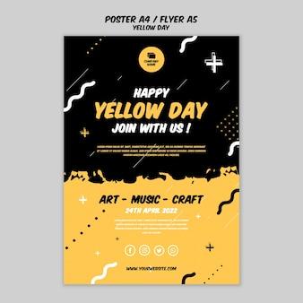 Cartaz com tema do dia amarelo