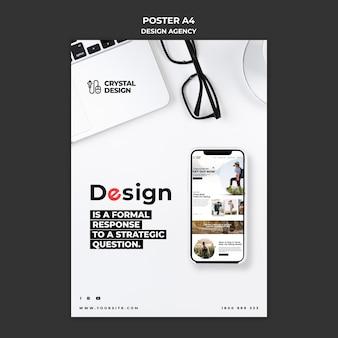 Cartaz da agência de design