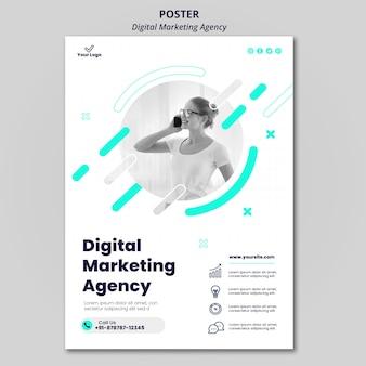 Cartaz da agência de marketing digital