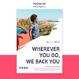 Cartaz da agência de viagens
