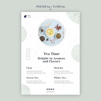 Cartaz da hora do chá aromático