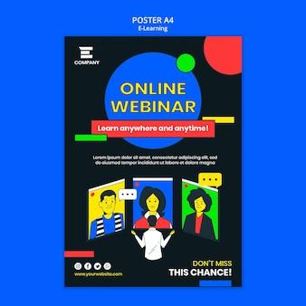 Cartaz da plataforma de e-learning