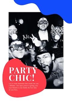 Cartaz de anúncio psd de modelo de marketing de evento de festa para organizadores