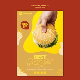 Cartaz de comida americana