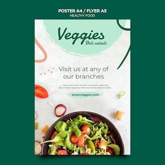 Cartaz de comida saudável