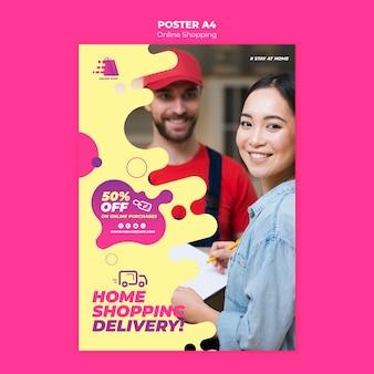 Cartaz de compras online