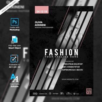 Cartaz de concerto de música de moda criativa