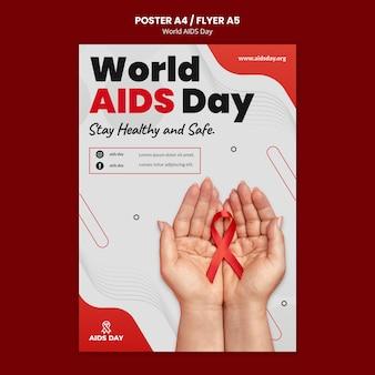 Cartaz de conscientização do dia mundial da aids