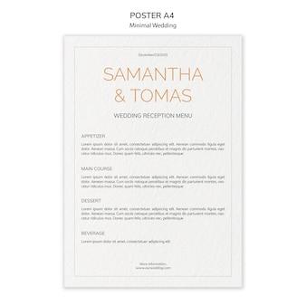 Cartaz de convite de casamento mínimo