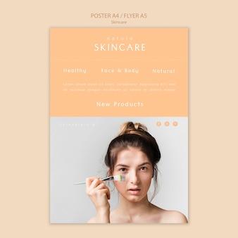 Cartaz de cuidados com a pele