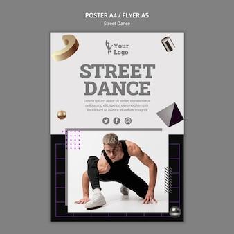 Cartaz de dança de rua com foto