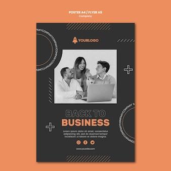 Cartaz de desenvolvimento de negócios da empresa