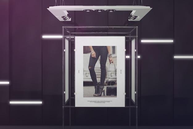 Cartaz de exposição stand mockup