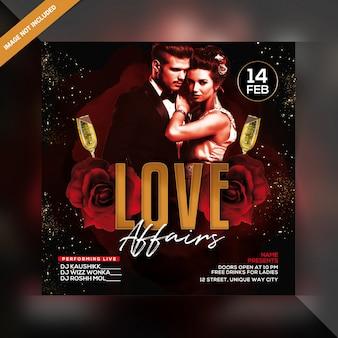 Cartaz de festa de casos de amor
