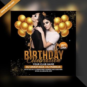 Cartaz de festa de comemoração de aniversário