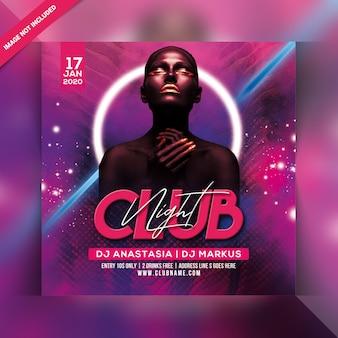 Cartaz de festa do clube noite