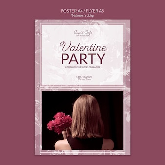 Cartaz de festa do dia dos namorados