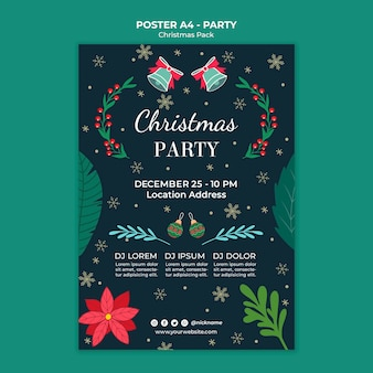 Cartaz de festa natalícia de natal