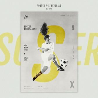 Cartaz de jogador de futebol feminino