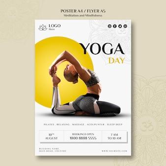 Cartaz de meditação e atenção plena