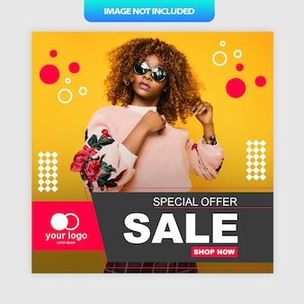 Cartaz de mídia social de oferta especial