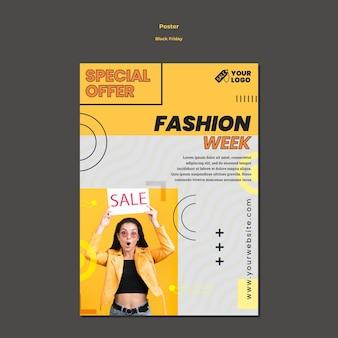 Cartaz de modelo de anúncio black friday