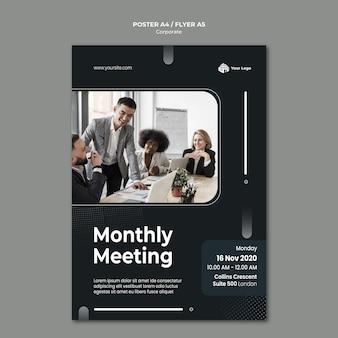 Cartaz de modelo de anúncio corporativo