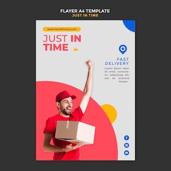 Cartaz de modelo de anúncio de empresa de entrega