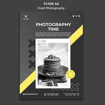 Cartaz de modelo de anúncio de fotografia de comida