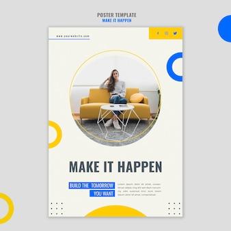 Cartaz de modelo de anúncio de negócios em memphis
