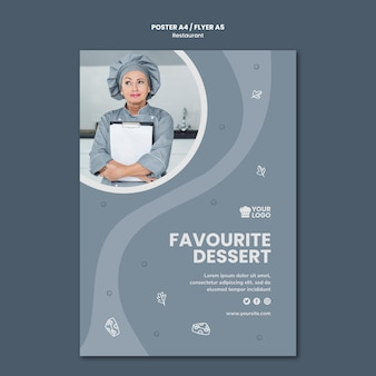 Cartaz de modelo de anúncio de restaurante