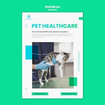 Cartaz de modelo de anúncio veterinário