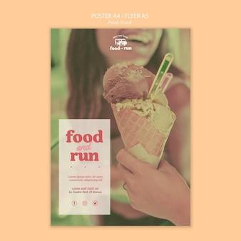 Cartaz de modelo de caminhão de comida