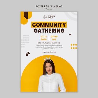 Cartaz de modelo de conferência de feminismo