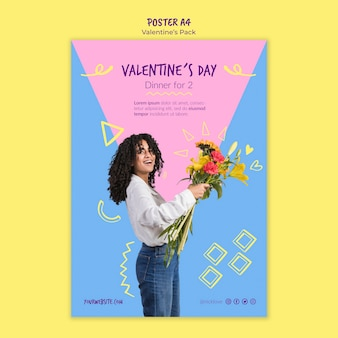 Cartaz de modelo de dia dos namorados