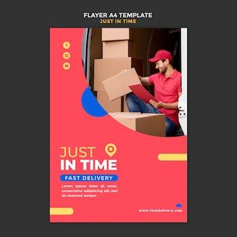 Cartaz de modelo de empresa de entrega