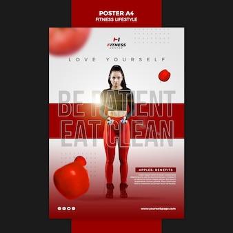 Cartaz de modelo de estilo de vida de fitness