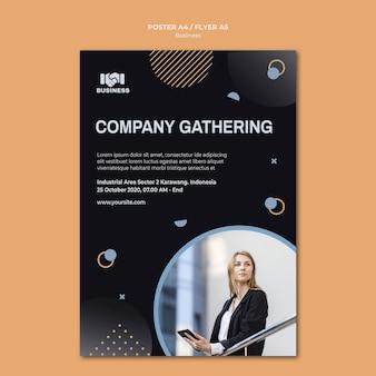 Cartaz de modelo de evento de negócios